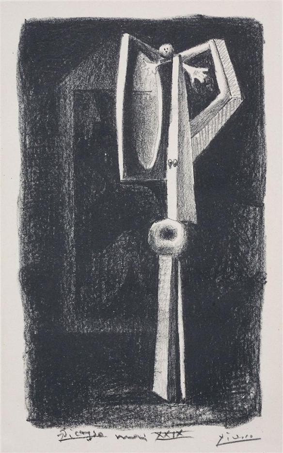 Picasso, Figure, Figur (Badende in der Kabine), 1929, Lithographie, Museum Kunstpalast Düsseldorf, © S~1